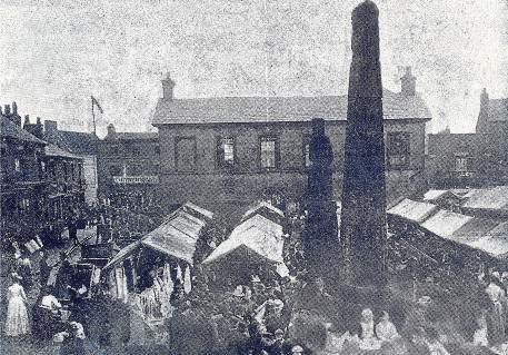 (In 1891 it was demolished) Also used as a Magistrates Court with Police cells underneath. 1889 The Foundation Stone of the present Town Hall (3rd building) was laid on the 2 July 1889.