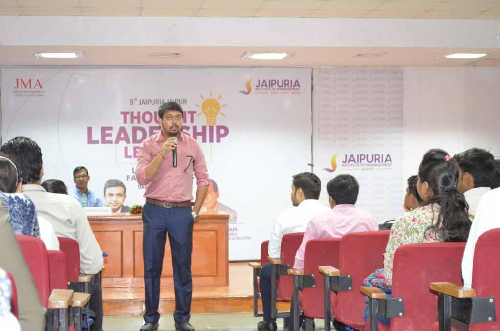 Mr. Sanjay Mehta, Cluster Credit Manager, Ujjivan Finance, Delhi Jaipuria Institute Of Management, Jaipur organized an alumni interface session on 24th July 2017 with Students to enlighten and